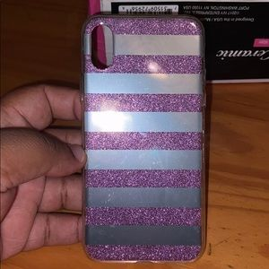 iPhone X Case Silver And Purple